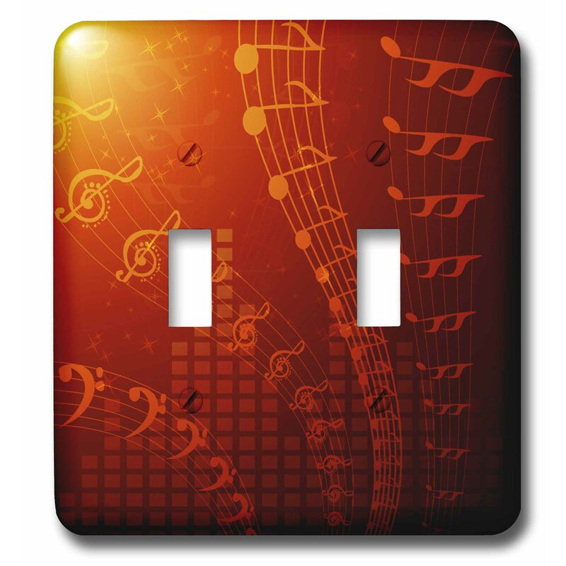 3drose Floating Musical Notes 2 Gang Toggle Light Switch Wall Plate Wayfair