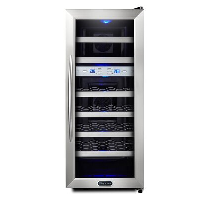 21 Bottle Dual Zone Freestanding Wine Cooler  sc 1 st  Wayfair & Cuisinart 32 Bottle Dual Zone Freestanding Wine Cooler | Wayfair