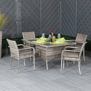 Ferreira 4 Seater Dining Set With Cushions Image