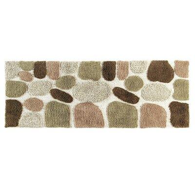 Ebern Designs Creline Bath Rug Color: Khaki