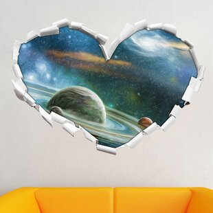 Planet With Numerous Prominent Ring Systems Wall Sticker By East Urban Home