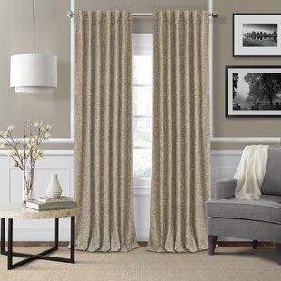 Aston Solid Room Darkening Thermal Rod Pocket Single Curtain Panel by Eider & Ivory