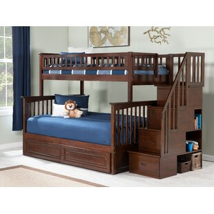 Abel Staircase Standard Bed with Raised Panel Trundle