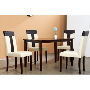 Rosette 5 Piece Dining Set by Winston Porter