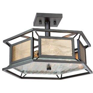 Chadwick 3-Light Semi Flush Mount by Artcraft Lighting