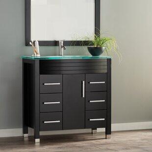 Review Prall Modern 36 Single Sink Bathroom Vanity Set with Mirror by Orren Ellis