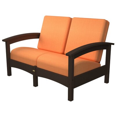 Rockport Club Deep Seating Sofa with Cushions Trex Outdoor Color: Vintage Lantern / Tangerine