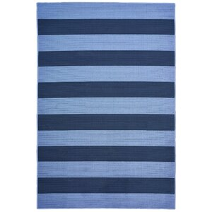 Deverick Stripe Blue/Navy Indoor/Outdoor Area Rug