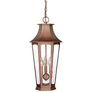 Best Wilberforce 3-Light Outdoor Hanging Lantern By Darby Home Co