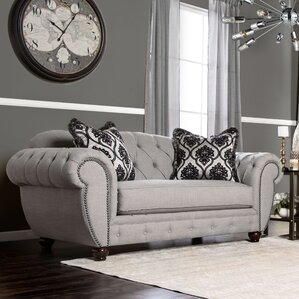 Suffield Chesterfield Loveseat by Darby Home Co