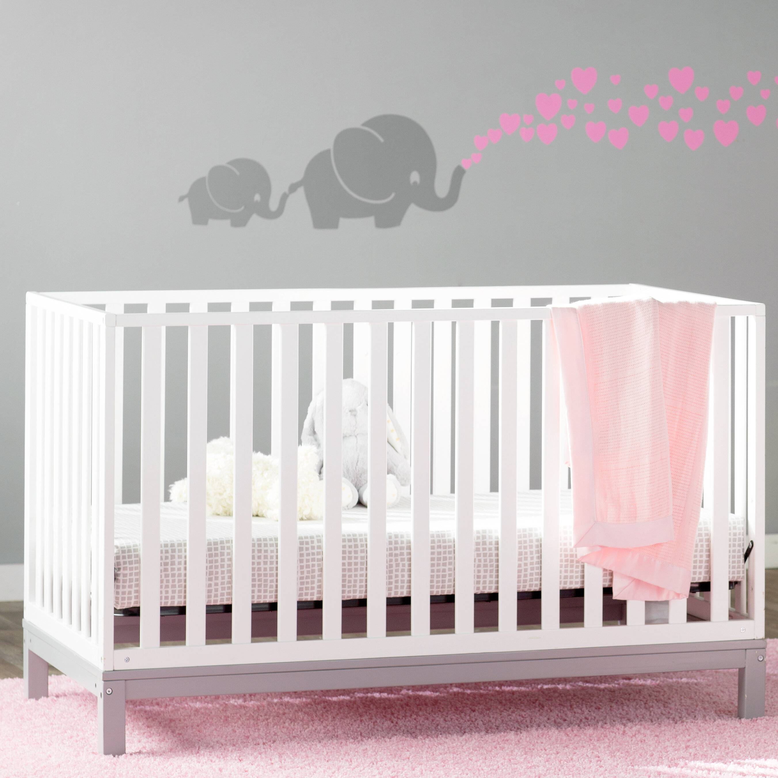 nursery furniture white crib now babyletto it pin only mini origami buy