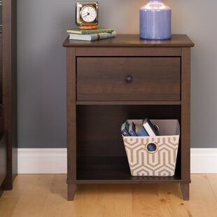 Beachcrest Home Orchard Traditional 1 Drawer Nightstand