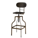 Sherita Metal 45 Adjustable Height Swivel Bar Stool by Greyleigh™