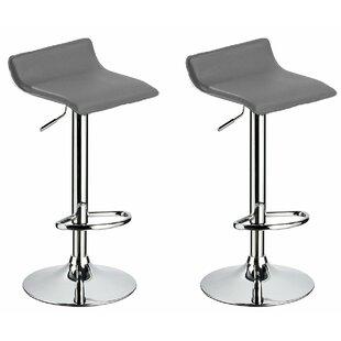 Kreatz Adjustable Height Swivel Bar Stool (Set of 2) Orren Ellis