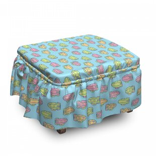 Zeppelin Ottoman Slipcover (Set Of 2) By East Urban Home