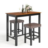 Bringger 3 - Piece Counter Height Breakfast Nook Dining Set by Red Barrel Studio®