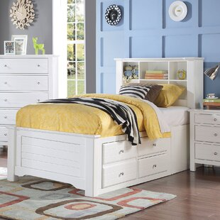 Great Price Saylor Bookcase Panel Bed with Storage by Harriet Bee Reviews (2019) & Buyer's Guide