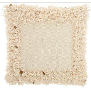 Border Sequin Fringe 100% Cotton Throw Pillow