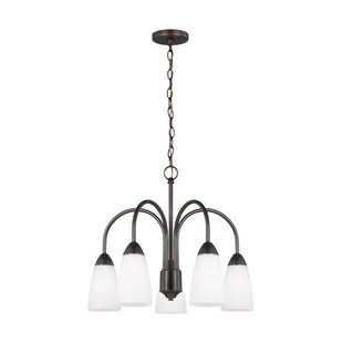 Winston Porter Jaylene 5-Light Shaded Chandelier