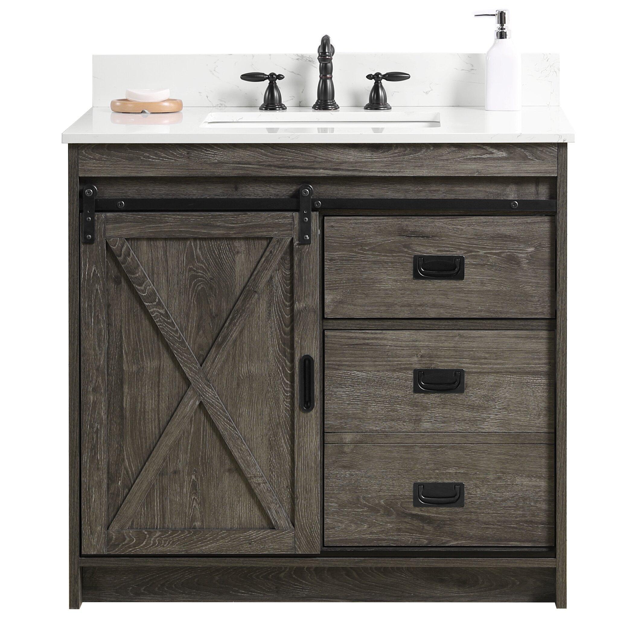 Coastal Farmhouse Jillian 36 Single Bathroom Vanity Set Reviews Wayfair