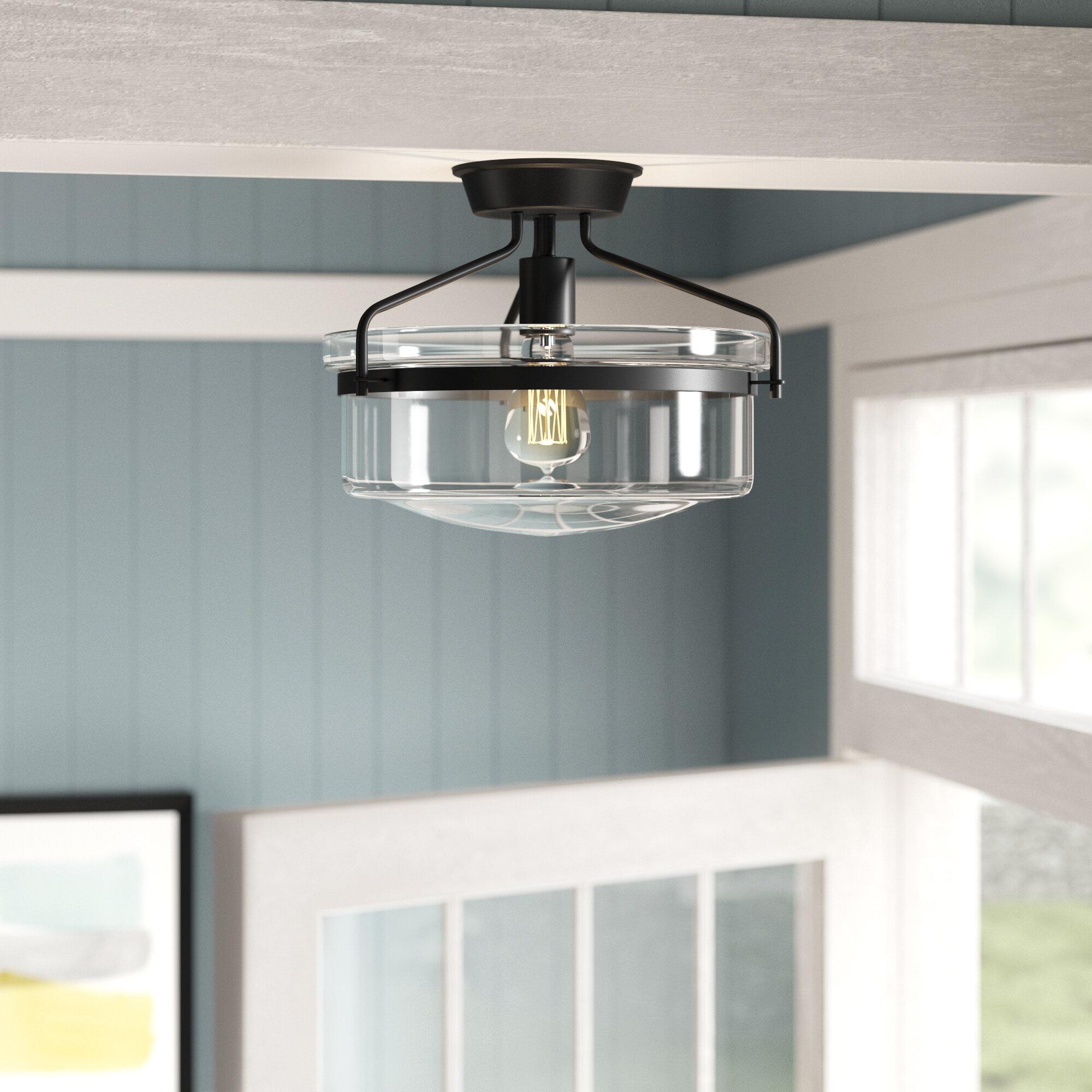 Laurel Foundry Modern Farmhouse Andres 1 Light 13 25 Simple Drum Semi Flush Mount Reviews Wayfair