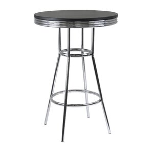 Clarksburg Modern Metal Pub Table by Red Barrel Studio