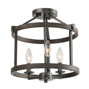 Blouin 3-Light Semi Flush Mount by Williston Forge