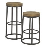 Hemington Round Metal 30 Bar Stool by Union Rustic