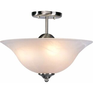 Volume Lighting Minster 3-Light Semi Flush Mount