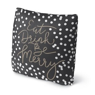 Eat Drink Be Merry Throw Pillow