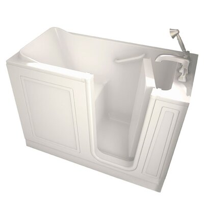Acrylic 51 x 26 Walk-In Combo Massage Air/WhirlpoolTub with Drain American Standard Color: Linen, Drain Location: Right