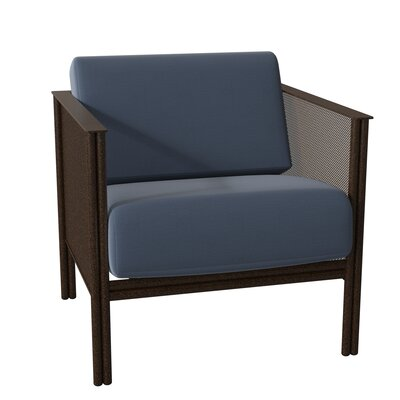 Woodard Jax Patio Chair With Cushions Frame Color Pewter Finish