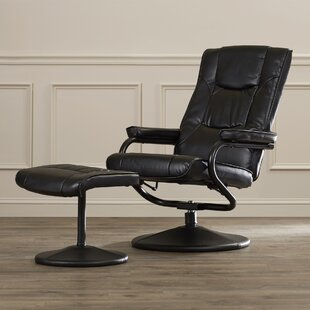 Charlton Home Manual Swivel Recliner with Ottoman