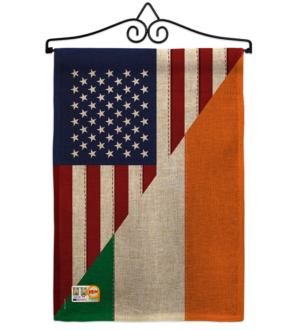 Breeze Decor American Irish Friendship 2 Sided Burlap 19 X 13 In Garden Flag Wayfair