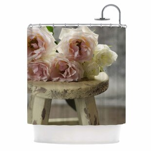 Roses on Stool by Cristina Mitchell Floral Photography Single Shower Curtain
