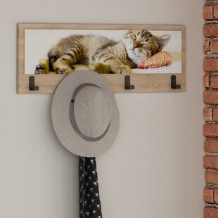 Sleepy Wall Mounted Coat Rack By 17 Stories
