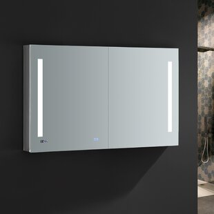 Tiempo 48 x 30 Recessed or Surface Mount Frameless Medicine Cabinet with LED Lighting and Defogger Fresca