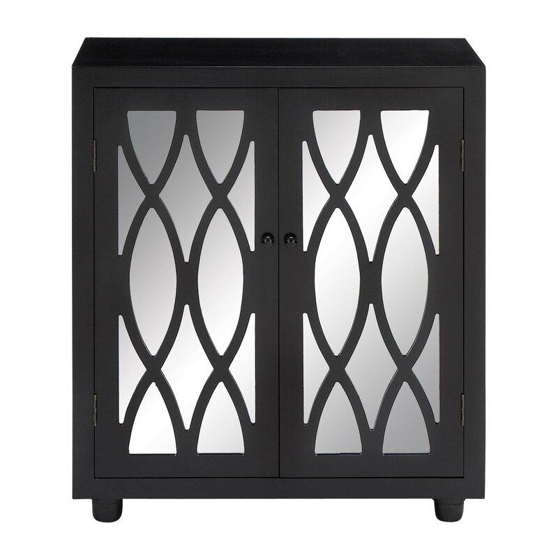 Cole Grey 2 Door Wood Mirror Accent Cabinet Reviews Wayfair