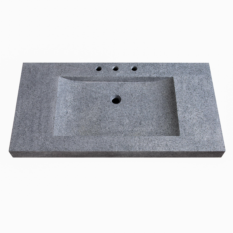 Avanity Natural Granite Stone Integrated 43 Single Bathroom Vanity Top Perigold