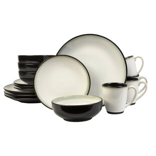 Nova 16 Piece Dinnerware Set Service for 4 (Set of 16)