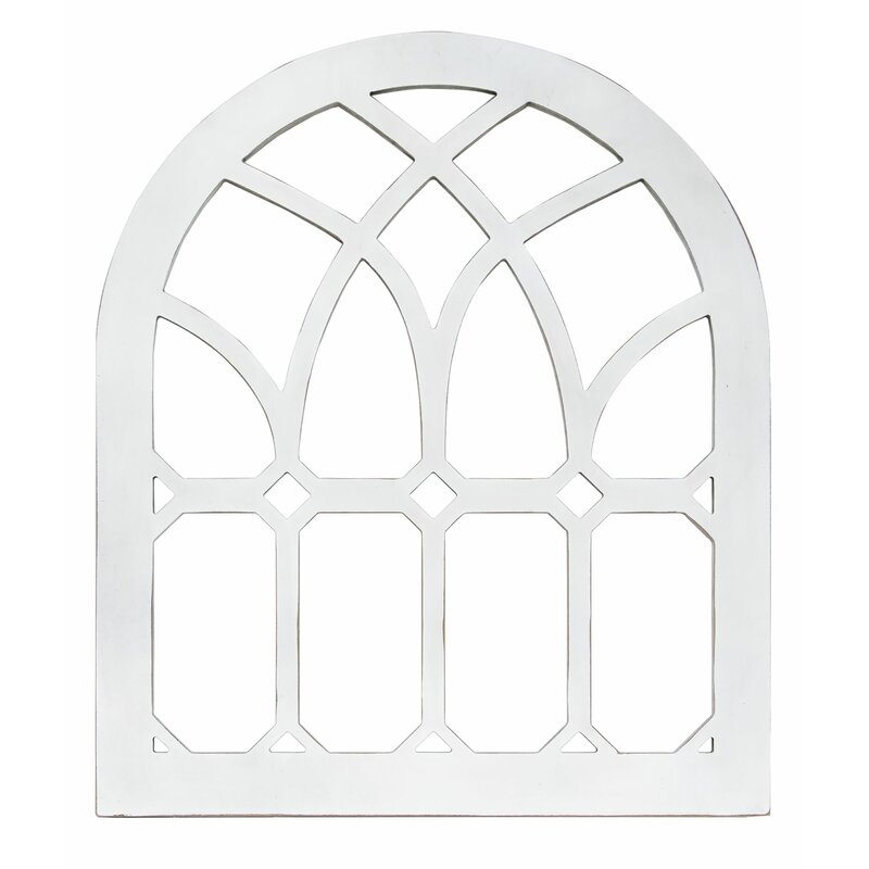 """Hanging Emerald Cutout Cathedral Window 9/"""" H"""