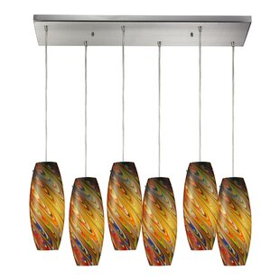 Newberry 6-Light Cluster Pendant by Latitude Run