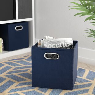 Purchase Contemporary Foldable Fabric Storage Bin By Rebrilliant