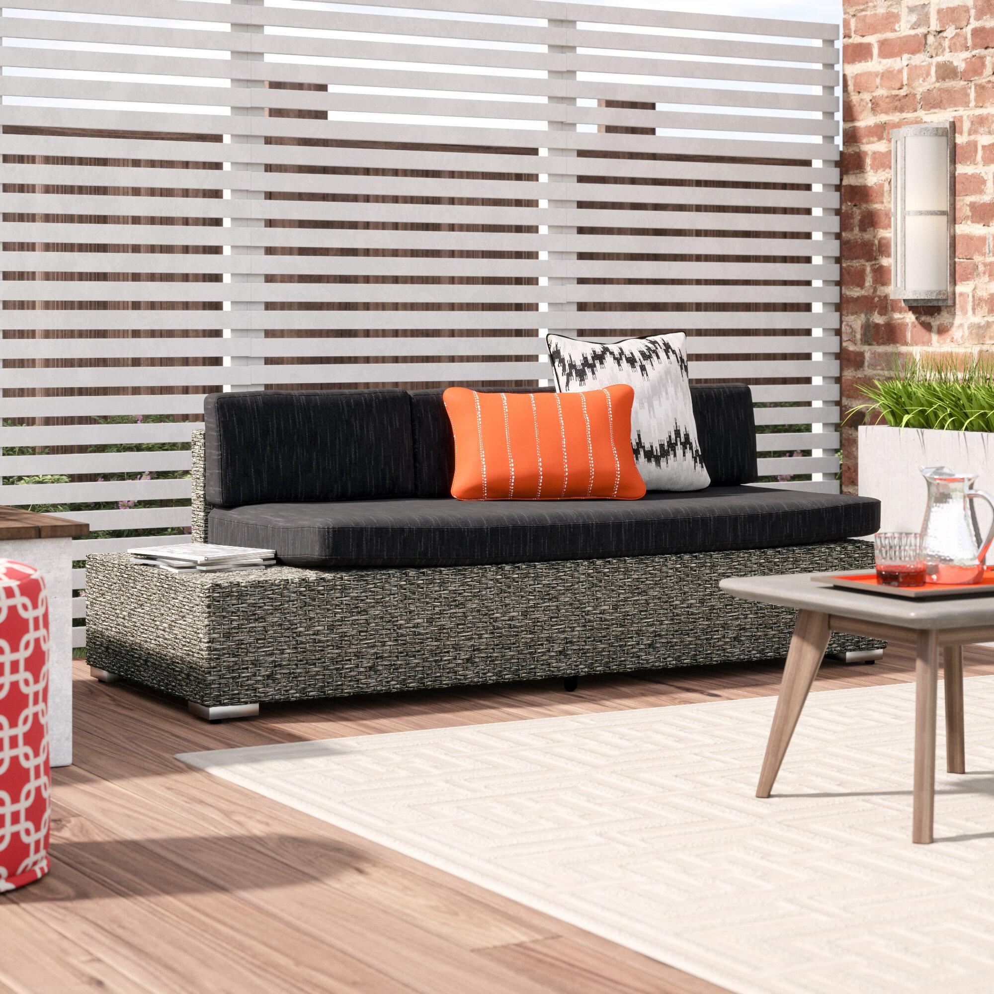 Wade Logan Furst Patio Sofa With Cushion Reviews Wayfair