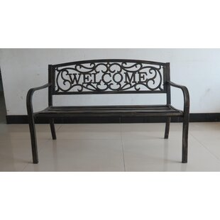 Setser Welcome Metal Garden Bench