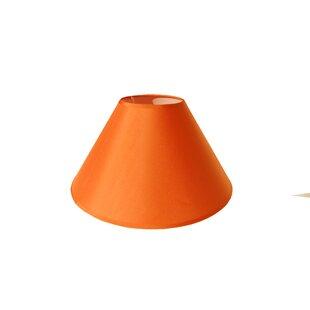 20 x 10 x 15 cm konisch Lampenschirm aus Stoff Orange