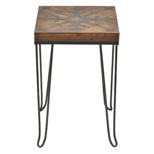 Wellesley Metal with Wood Top End Table