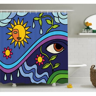 Great choice Celie Sunny Nature Flowers Shower Curtain ByEbern Designs