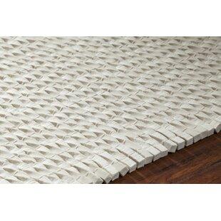 Affordable Leff Hand-Woven White Area Rug ByOrren Ellis