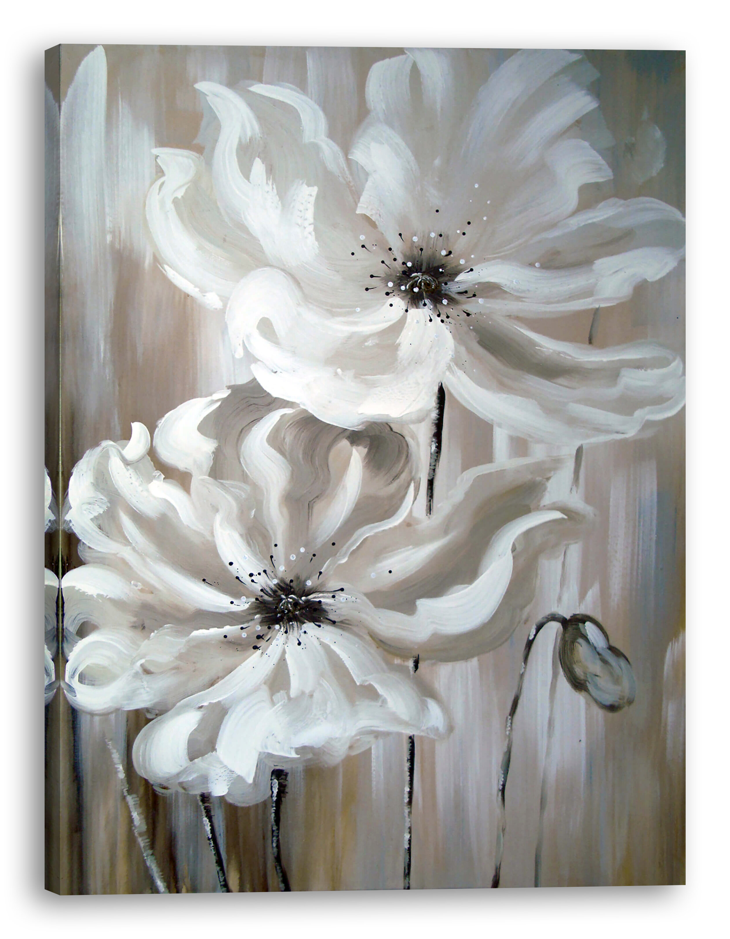 Ebern Designs White Flower I Oil Painting Print On Wrapped Canvas Reviews Wayfair